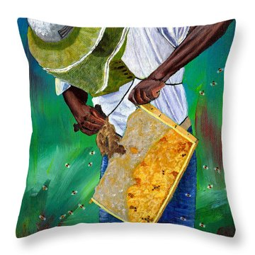Keeper Of The Bees Throw Pillow