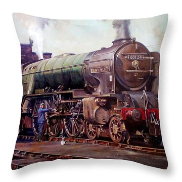 Kenilworth On Shed. Throw Pillow by Mike  Jeffries