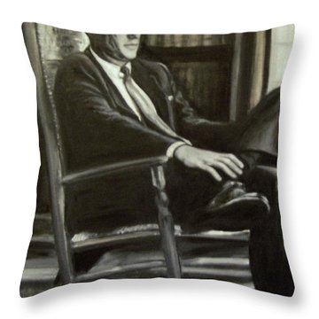 Kennedy In His Rocking Chair Throw Pillow