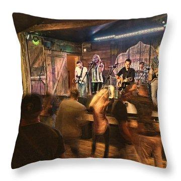 Keri Leigh Singing At Schmitt's Saloon Throw Pillow by Dan Friend
