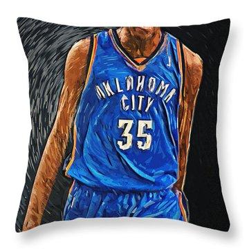 Kevin Durant Throw Pillow by Taylan Apukovska