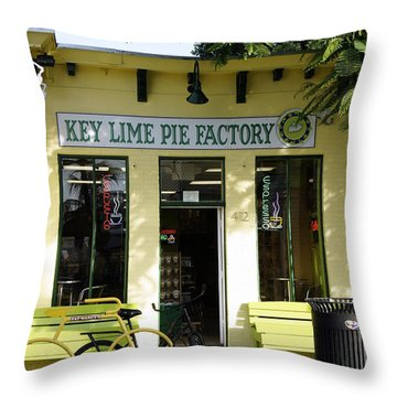 Key Lime Pie Throw Pillow