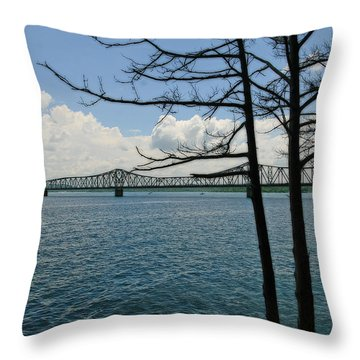 Kimberling City Bridge Throw Pillow