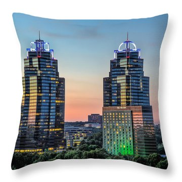 King And Queen Buildings Throw Pillow by Anna Rumiantseva