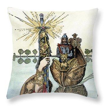 King Arthur, 1903 Throw Pillow