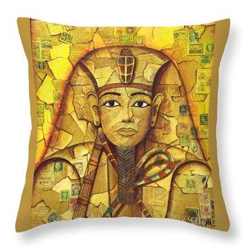 King Tut Throw Pillow by Joseph Sonday