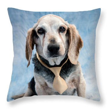 Kippy Beagle Senior Throw Pillow