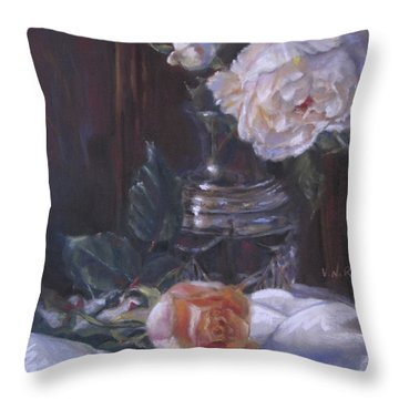 Kippy's Roses Throw Pillow