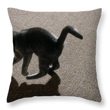 Kitten Playing With Ball Throw Pillow by James L. Amos