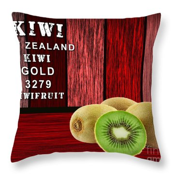 Kiwi Farm Throw Pillow