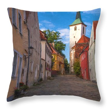 Klostergasse Vilseck Throw Pillow