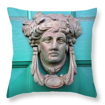 Knock Knock Throw Pillow by Brian Wallace