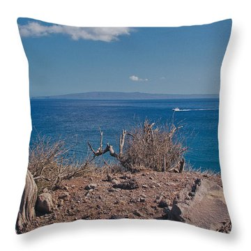 Kohemalamalama O Kanaloa Throw Pillow by Sharon Mau