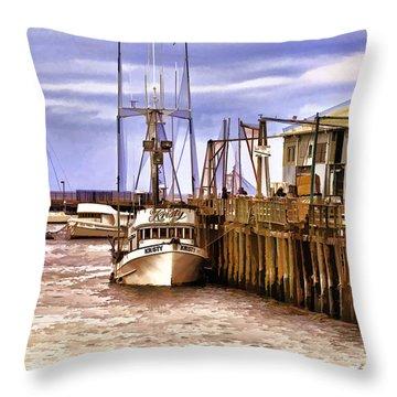Throw Pillow featuring the painting Kristy by Muhie Kanawati