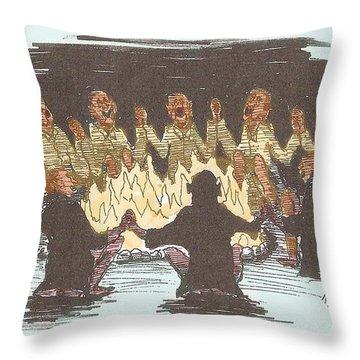 Kumbaya Throw Pillow