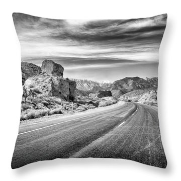 Kyle Canyon Road Throw Pillow by Howard Salmon