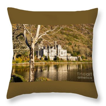 Kylemore Abbey In Winter Throw Pillow