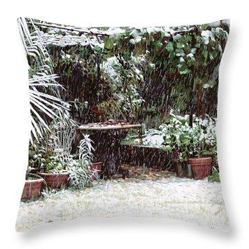 La Neve Sotto La Topia Throw Pillow by Guido Borelli