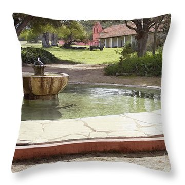 La Purisima Fountain Throw Pillow