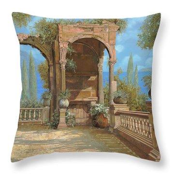 La Terrazza Sul Lago Throw Pillow by Guido Borelli