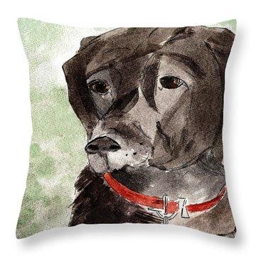 Labrador Retriever Throw Pillow by Elizabeth Briggs