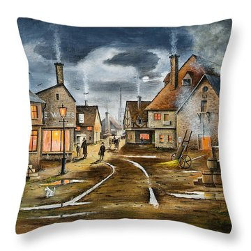 Lady At The Window Throw Pillow