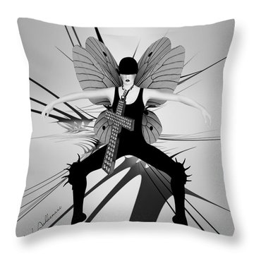 Lady D 4 Throw Pillow by Mark Ashkenazi