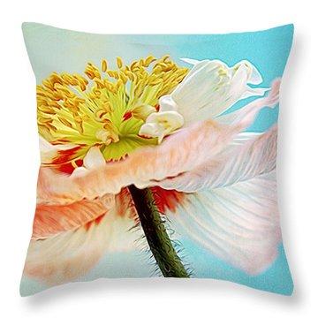 Lady Poppy Throw Pillow