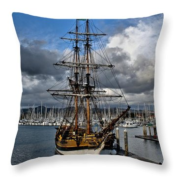 Throw Pillow featuring the photograph Lady Washington by Michael Gordon