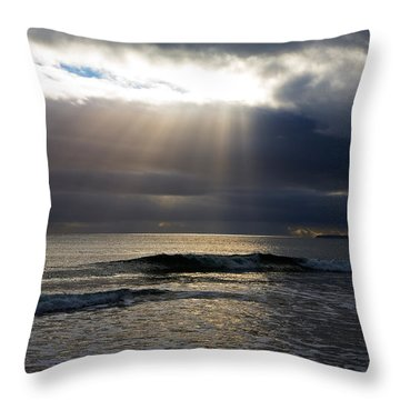 Ladys Cove, The Copper Coast, County Throw Pillow