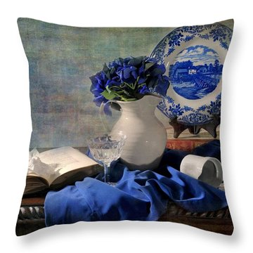 Lady's Got The Blues Throw Pillow