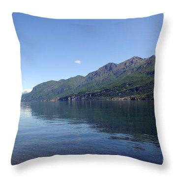 Lake Como - Italy Throw Pillow by Haleh Mahbod