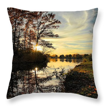 Lake Wausau Sunset Throw Pillow