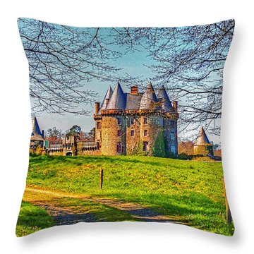 Throw Pillow featuring the photograph Chateau De Landale by Elf Evans