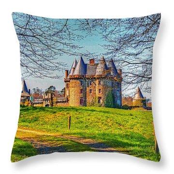 Chateau De Landale Throw Pillow by Elf Evans