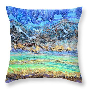 Landscape Layers Throw Pillow by Regina Valluzzi