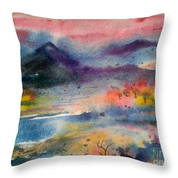 landscape V Throw Pillow