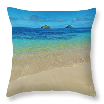 Lanikai Paradise Throw Pillow