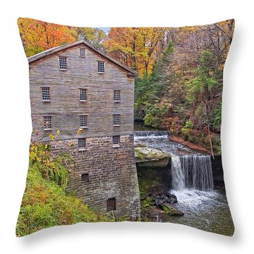 Lantermans Mill Throw Pillow by Marcia Colelli
