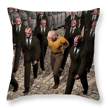 Last March Of The Non Conformist Throw Pillow