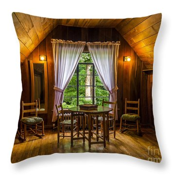 Laurel House Throw Pillow