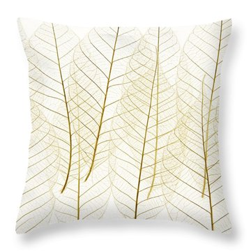 Layered Leaves Throw Pillow by Kelly Redinger
