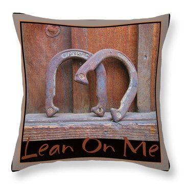 Throw Pillow featuring the photograph Lean On Me by Brooks Garten Hauschild