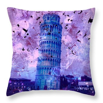 Leaning Tower Of Pisa 2 Throw Pillow