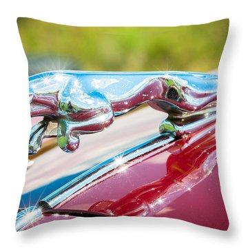 Leaping Jaguar Throw Pillow