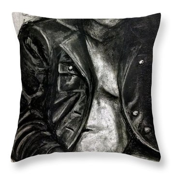 Leather Jacket Throw Pillow