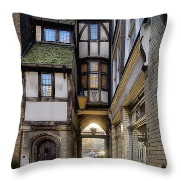 Leaving St Barts Throw Pillow by Shirley Mitchell