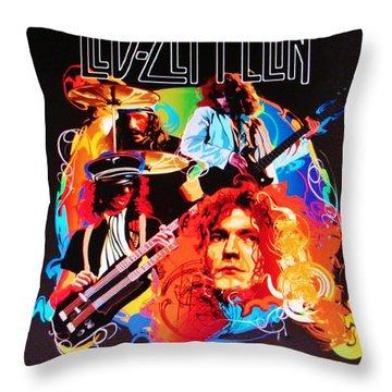Led Zeppelin Art Throw Pillow