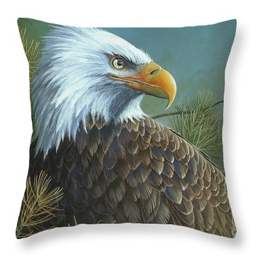Throw Pillow featuring the painting Legacy by Mike Brown