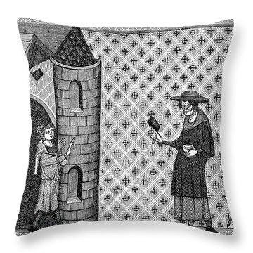 Leper House, C1220-1244 Throw Pillow by Granger